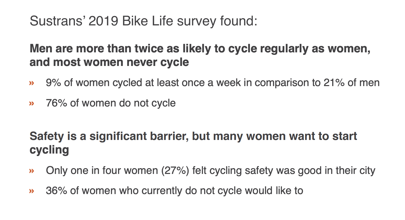 Sustrans cycling inequality report