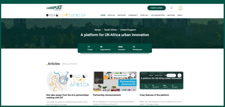 Urban Links Africa Homepage